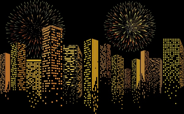 modern_city_background_yellow_lights_building_fireworks_decor_6832726