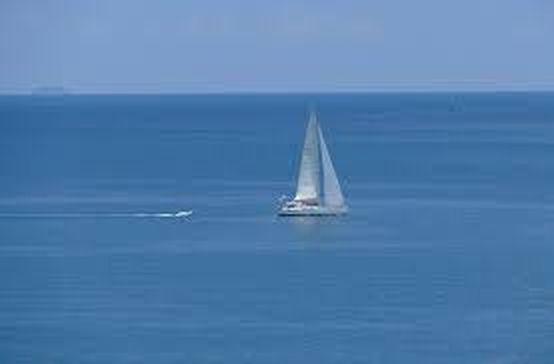 little boat on sea