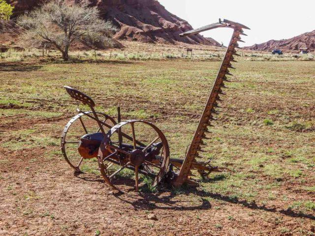 old farm machine